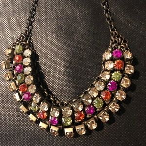Loft  multicolor rhinestone encrusted necklace